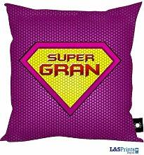 Super Gran Design Kissen Perfekte Geschenk Oma Geburtstag Geschenkidee Muttertag Geschenkidee