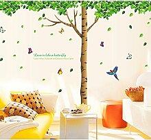 Super Groß, Grün Baum Schmetterlinge Vögel Englisch Buchstaben Wand Aufkleber PVC Home Aufkleber House Vinyl Papier Dekoration Tapete Wohnzimmer Schlafzimmer Kunst Bild DIY Wandmalereien Mädchen Jungen Kids Kinderzimmer Baby