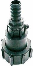 Super Heavy Duty drehbaren IBC Adapter auf 20mm (3/10,2cm) Widerhaken Schlauch Schwanz. Öl Diesel Wasser