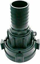 Super Heavy Duty drehbaren IBC Adapter auf 38mm (1.1/5,1cm) Widerhaken Schlauch Schwanz. Öl Diesel Wasser