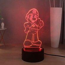 Super Mario 3D LED Nachtlicht für Kinder, Mario