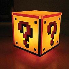 Super Mario Fragezeichen Block Dekolampe mit Sound