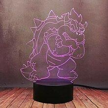 Super Mario Game Cartoon Lampe 3D Illusion