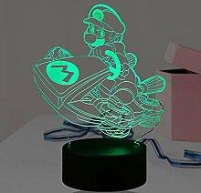 Super Mario Lampenschirm, Rennfahrrad-Tischlampe,