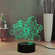 Super Mario LED-Nachtlicht, Yoshi Luigi Mario