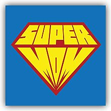 Super Mom Pop Art Emblem - Self-Adhesive Sticker