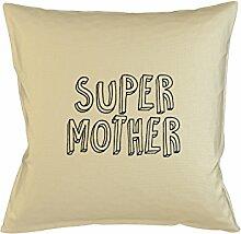 Super Mother Family Dad Kissen Kissenbezug Fall Sofa Bed Home Décor Beige