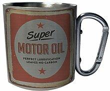 Super Motor Oil Gallons Mechanic Neu Edelstahl