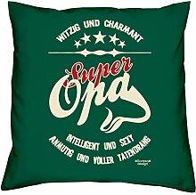 Super Opa :: Geschenk-Set : Kissen inkl. Füllung