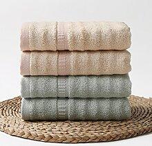 Super saugfähigen Fläche4 Bambusfaser Bettwäscheweiche und Verdickung Haushalt antibakterielle Bambus Holzkohle Handtuch2 Grün 2 Braun75 x 35 cm