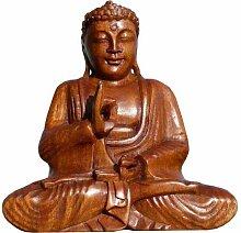 Super schöner 20 cm BUDDHA Meditation HOLZ BUDDA