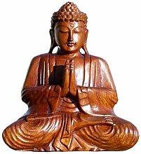 Super schöner 20 cm Gebet BUDDHA Meditation HOLZ