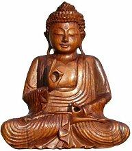 Super schöner 25 cm BUDDHA Meditation HOLZ BUDDA