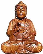 Super schöner 30 cm BUDDHA Meditation HOLZ BUDDA