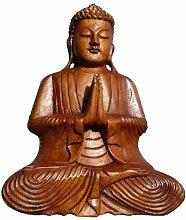 Super schöner 30 cm Gebet BUDDHA Meditation HOLZ