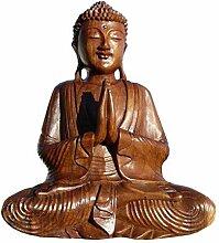 Super schöner 40 cm Gebet BUDDHA Meditation HOLZ
