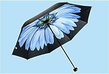 Super Sonnenschutz schwarz Regenschirm Vinyl Sonnenschirm weiblich Sunny Regenschirm Fold Anti-UV Regenschirme ( Farbe : #3 )