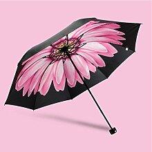 Super Sonnenschutz schwarz Regenschirm Vinyl Sonnenschirm weiblich Sunny Regenschirm Fold Anti-UV Regenschirme ( Farbe : #1 )