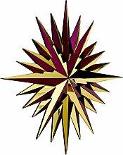 Super Star Spiegel in Gold & Burgunderrot von