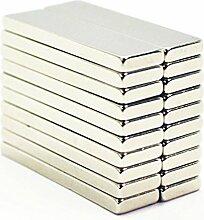 Super Strong 67mm x 12mm x 6mm NdFeB Permanent Neodym-Block Bar Magnete N35Grade, 20pcs