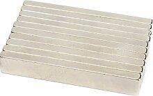 Super Strong Extra Lang 58mm x 10mm x 5mm Rare Earth Neodym-Block Bar Magnete Grade N35, 50pcs