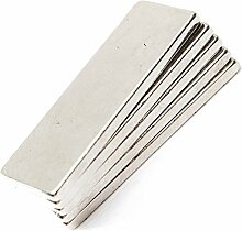 Super Strong Extra Lang 60mm x 10mm x 5mm Rare Earth Neodym-Block Bar Magnete Grade N35, 15pcs