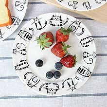 Super süße Katze Keramik Teller Speiseteller