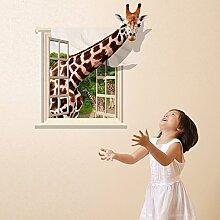 Super wasserdichtes Modell kann das Wohnzimmer das Schlafzimmer Wand Aufkleber kopieren 3d-giraffe Paste entfernen