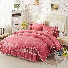 Super weich halten warmen vier Sets Bettwäsche Bett Rock Quilt Kissenbezug ( farbe : # 10 , größe : 1.5m Bed )