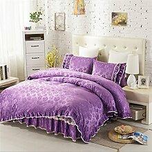 Super weich halten warmen vier Sets Bettwäsche Bett Rock Quilt Kissenbezug ( farbe : # 12 , größe : 1.5m Bed )