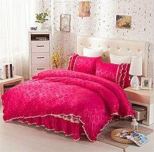 Super weich halten warmen vier Sets Bettwäsche Bett Rock Quilt Kissenbezug ( farbe : # 9 , größe : 2.0m Bed )