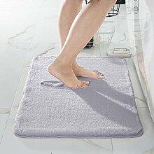Super weicher grauer Kunstfell-Teppich mit