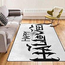 Super weicher Teppich mit Rutschfester