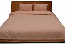 Super weiches Single Ply 600 Fadenzahl, ägyptische Baumwolle, Fadenzahl 600 Bettlaken oder Oberseite mit Extra Kopfkissenbezug, Super-King-Betten aus UK, Pfirsich, 100% Baumwolle, italienisches Design