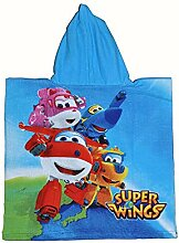 Super Wings Kinder-Poncho-Handtuch mit Kapuze, aus