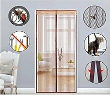 Super44day Magnet Türvorhang Fliegengitter Tür Insektenschutz, Fliegen Gitter, Moskito Netz, Magnetvorhang für Balkontür, Wohnzimmertür, Schiebetür, Ganz Ohne Bohren,95 x 210cm