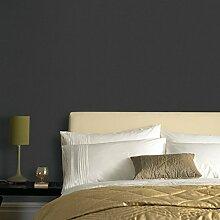 Superfresco Easy Tapete, einfarbig, Textil, Schwarz