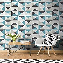 Superfresco Tapete, geometrisch, Blau/Schwarz