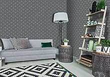 Superfresco Tapete, geometrisches Muster, Grau