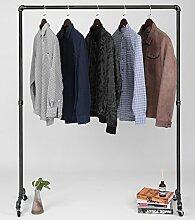 Superior Qualität Schwere Pflicht Stahlrohr Kleiderständer, metall, schwarz, 160cm Tall