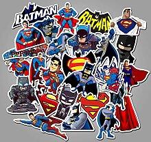 Superman Batman Cartoon Graffiti Aufkleber