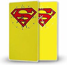 Superman - Lautlose Wanduhr mit Fotodruck auf