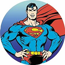 Superman Runde Torten Druck Bild auf A4