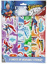 Superman Sticker im 34er Set - Super Man Aufkleber Superheld