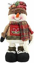 Superora Weihnachtsdeko Tischdekoration Puppe mit ausziehbar Beine Plüschpuppe Spielzeug für Weihnachten in Schneemann Santa Muster