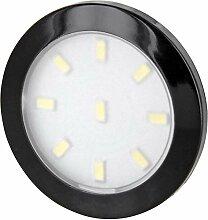 Superslim LED Möbel Aufbaustrahler schwarz rund