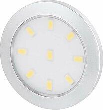 Superslim LED Möbel Aufbaustrahler silber rund
