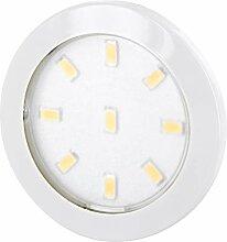 Superslim LED Möbel Aufbaustrahler weiß rund