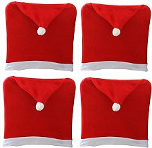 Supersnailman Christmas Dining Chair Back Cover Slipcovers Decoration 4 Packs