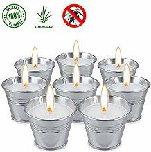SUPERSUN 8 Stück Anti Mücken Citronella Kerze